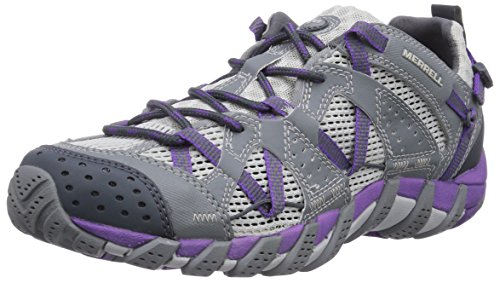 Merrell - Waterpro Maipo, Scarpe da arrampicata Donna, Grigio (Grey/royal Lilac), 38 EU