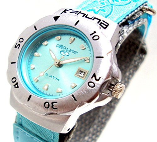 kahuna-girls-womens-aqua-blue-metallic-dial-flower-pattern-strap-sports-watch-with-50-meters-water-r