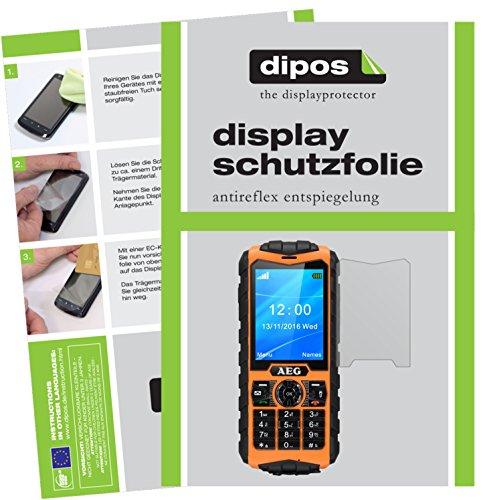 dipos I 2X Schutzfolie matt passend für AEG M550 Folie Bildschirmschutzfolie