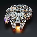 LIGHTAILING Conjunto de luces (Halcón Milenario) Modelo de Construcción de Bloques - Kit de luz...