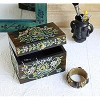San Valentino regalo, In legno bagagli decorativo Keepsake multiuso scatola di gioielli Organizzatore con stampa floreale