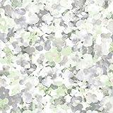 DansLemur 5052-4 - Papel pintado TNT con flores acuareladas de estilo romántico, color verde