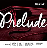 D\'Addario Bowed Corde seule (Sol) pour violoncelle D\'Addario Prelude, manche 1/2, tension Medium