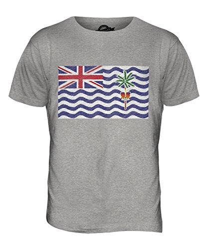 CandyMix Britisches Territorium Im Indischen Ozean Kritzelte Flagge Herren T Shirt Grau Meliert