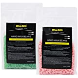 MagiDeal 2 Bags 500g Film Hard Wax Beans Depilatory Pellets Bikini Full Body Hair Removal Rose And Green Tea Flavor