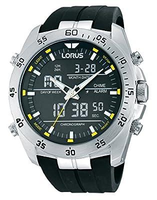 Seiko Sport - Reloj de cuarzo para hombre, correa de goma color negro