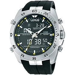 Lorus RW619AX9 - Reloj de Cuarzo para Hombre con Correa de Goma negra
