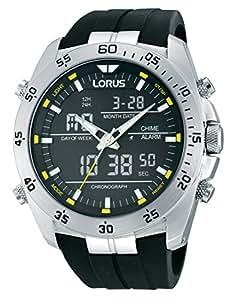 Lorus - RW619AX9 - Montre Homme - Quartz - Analogique et digitale - Chronomètre/Lumineuses/Alarme/Boussole - Bracelet Caoutchouc Noir