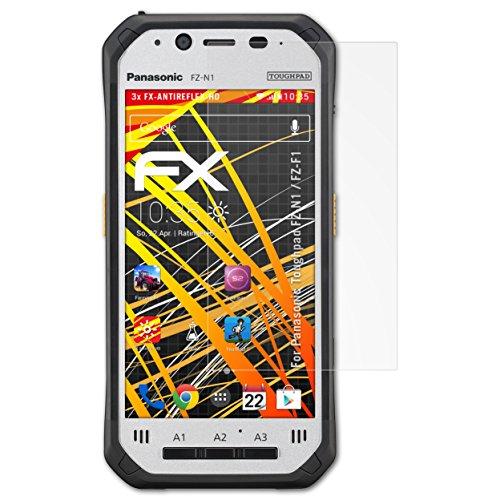 atFolix Schutzfolie kompatibel mit Panasonic Toughpad FZ-N1 / FZ-F1 Bildschirmschutzfolie, HD-Entspiegelung FX Folie (3X)
