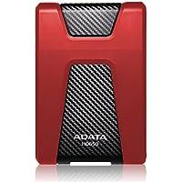 ADATA AHD650-1TU3-CRD - Disco duro externo de 1 TB USB3.0 de alta velocidad, triple capa, robusto y resistente a impactos, color rojo