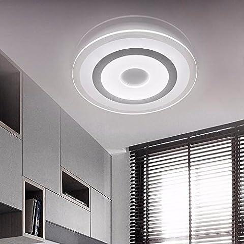 LoveScc Chambre moderne et minimaliste créative Accueil Lampes de plafond lampe de table de salle à manger design ultraplat Dim 3 couleurs 42cm