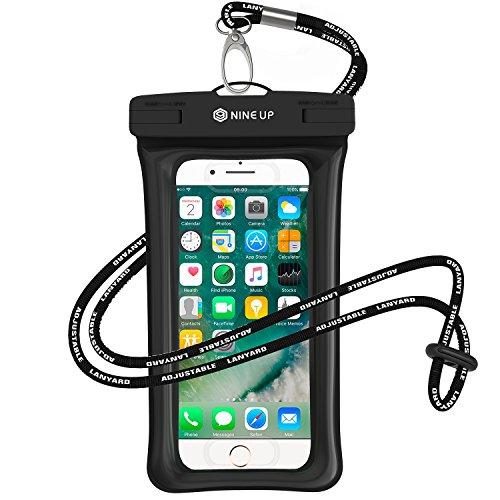 Wasserdichte Hülle Handyhülle NINE UP,Schweben im Wasser, Unterstützung der fingerabdruck freischalten,Universal Handy case Tasche mit Umhängeband für iPhone 7/ 6 / 6S, 7 / 6 / 6S Plus SE 5S, - Gehäuse Rückseite 5 Iphone