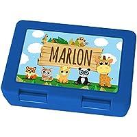 Brotdose mit Namen Marlon - Motiv Zoo, Lunchbox mit Namen, Frühstücksdose Kunststoff lebensmittelecht preisvergleich bei kinderzimmerdekopreise.eu