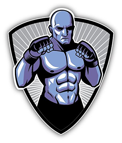 MMA Fighter Pose Mascot Sport Hochwertigen Auto-Autoaufkleber 10 x 12 cm -