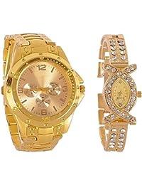 388de4ddab81 BLUTECH Analogue Gold Dial Men s and Women s Watch-M-Combo- Golden-Couple