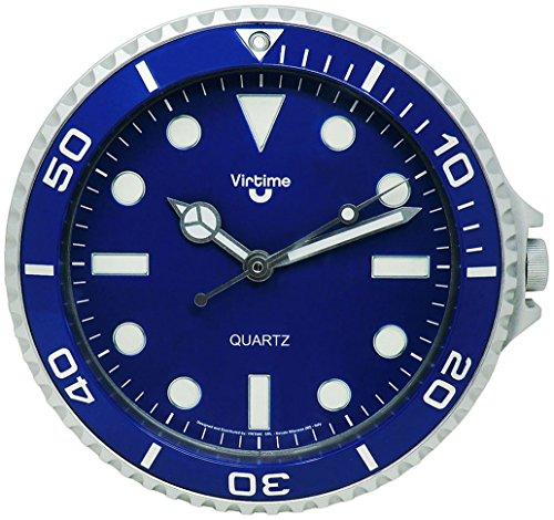 Simpatico orologio da parete per ufficio/casa/locali design orologio da polso rolex 28cm Ø di diametro colore blu 197900