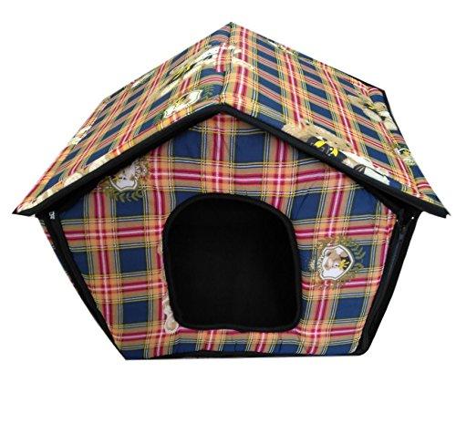 Ducomi® - Dogbnb –Caseta plegable de tela suave para perros y gatos