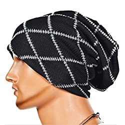 Knitting Wool Striped Warm Hat - iParaAiluRy Unisex Luxurious Fashionable Soft Slouchy Cap Hip-Hop cap Beanie Hat in Winter and Spring from iParaAiluRy