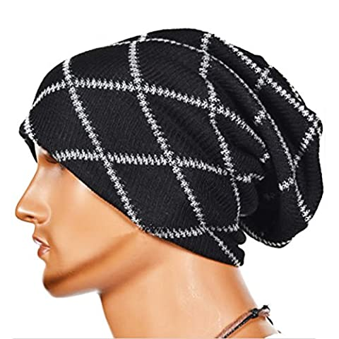 Knitting Wool Striped Chapeau chaud - iParaAiluRy unisexe de luxe