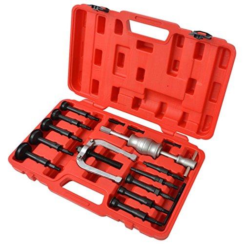vidaXL Coffret Kit d'extracteurs de roulements outil de roulements 16 pièces