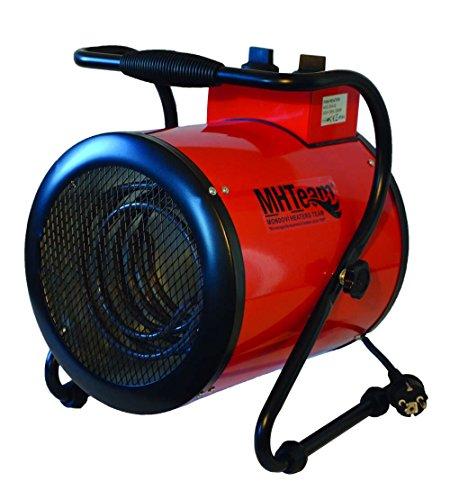 MHTEAM MHTEAM-EH4-03 Riscaldatore Elettrico 3000W Termostato, Rosso