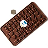 Silicone Chocolate Garnish Mould - Numbers & Letters