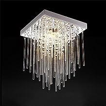 TOYM- Barras de vidrio cuadrado simple moderno Hall de entrada Pasillo Corredor Cristal Lámpara de techo Super Bright LED Dormitorio Luz