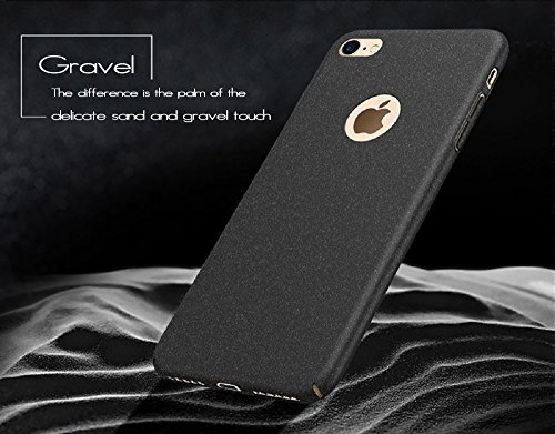 Anccer iPhone 7Coque [Serie Mat] Resilient Conception Ultra mince et absorption des chocs pour Iphone7 Smooth Gold Gravel Black