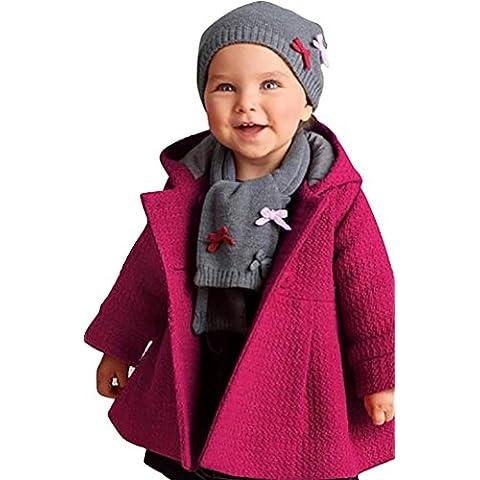 CHENGYANG Abrigo Manga Larga Chaqueta de Capucha color sólido Invierno Coat Ropa para Niños