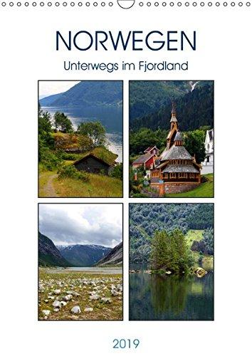 Norwegen - Unterwegs im Fjordland (Wandkalender 2019 DIN A3 hoch): Westnorwegen und seine Fjorde (Monatskalender, 14 Seiten ) (CALVENDO Orte)