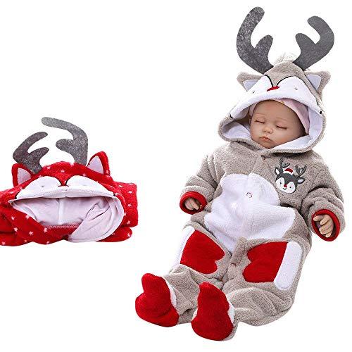 Fenverk Baby Jungen MäDchen Winter Dicker Mit Kapuze Strampler Outfit Kind Kleider Pyjama Kinder...
