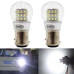 AMAZENAR 2-Pack 1157 BAY15D 1016 1034 7528 2057 2357 Luce LED Estremamente Luminoso 12V-DC, AK-3014 39 SMD Lampadine di Ricambio per Luci di Stop Posteriori