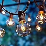 Catene luminose, luci esterne a corda, [Versione aggiornata] luci all'aperto della corda del giardino del patio di OxyLED G40 25ft, luci decorative del corda, luci di natale del terrazzo del giardino