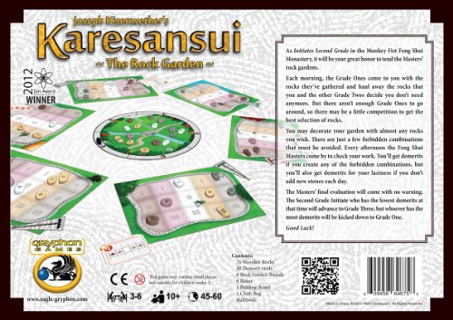 Gryphon Games 1410 - Karesansui, The Rock Garden plus Weeds Expansion