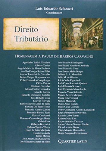 Direito Tributário. Homenagem A Paulo De Barros Carvalho