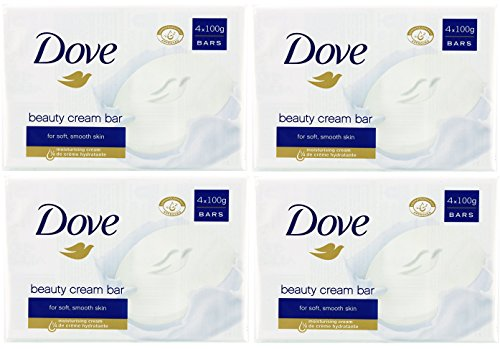 x4 Dove Beauty Cream Bar 100g for Soft and Smooth Skin 4 Packs( 16 SOAPS)