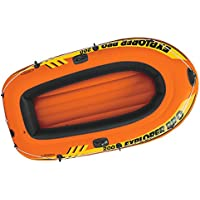 INTEX Explorer Pro 200 Barco Hinchable, Unisex Adulto, Naranja, Negro, 196 x 102 x 33 cm