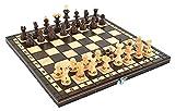 Iso Trade Schachspiel aus Holz Einklappbar Figuren Schachbrett ab 6 Jahre #6386