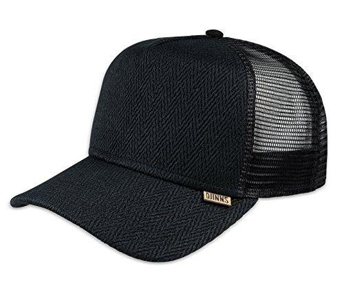 DJINNS - Fishburn (black) - High Fitted Trucker Cap