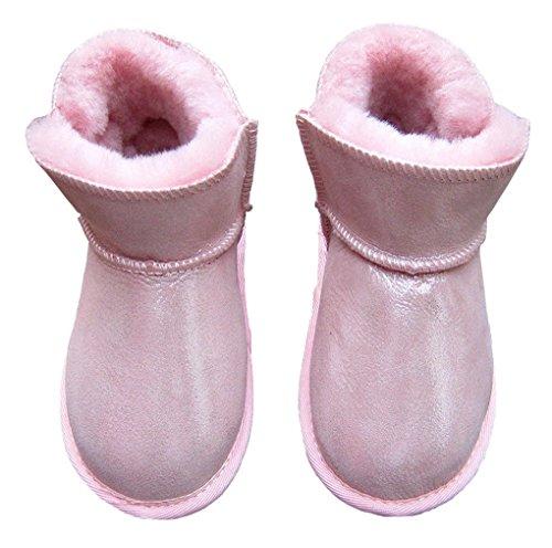 ACMEDE - Bottes de Neige Chaudes Et Souples Pour Enfants Bébé Fille Garçon En Hiver Chaussures Fourrure Snow Boots Rose 2