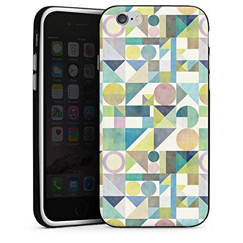 Apple iPhone 6 Plus Silicone Case Coque white - Nordic Combination21 Housse en silicone noir / blanc