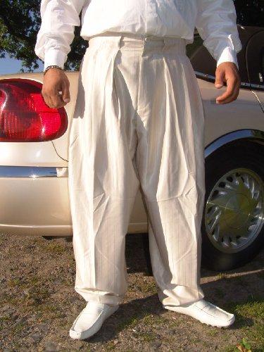 Il Padrino Moda Luxus Mafia Bundfalten Hose 58 *NEU* deluxe tone-in-tone