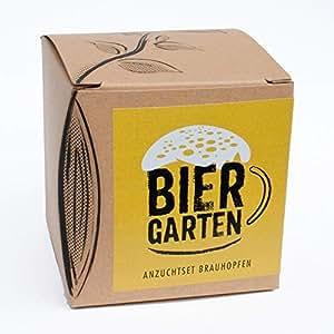 """Geschenk-Anzuchtset """"Biergarten"""" - Echter Brauhopfen"""