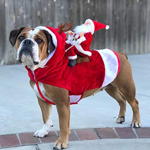 EqWong Disfraz para Perros navideños