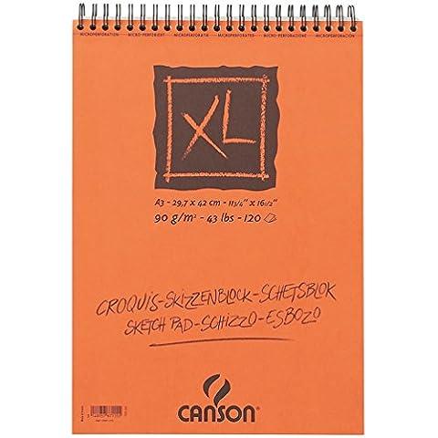 Canson XL Croquis Papier à dessin 120 feuilles A3 29,7 x 42 cm 90 g Ivoire