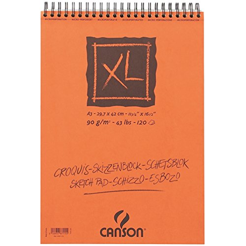 Canson 948123 - Cuaderno de dibujo en espiral A3, 120 hojas