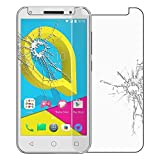 cophone® Verre trempé Alcatel U5 , film de protection écran Premium Anti Chocs et Casse, Anti empreintes, bords arrondis,dureté max 9H, haute définition Glass Screen Protector Vitre Tempered 2,5d