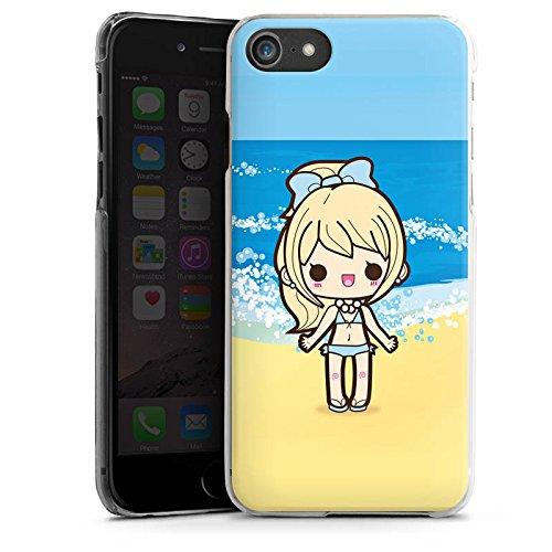 Apple iPhone X Silikon Hülle Case Schutzhülle Strand Kawaii Manga Hard Case transparent