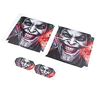 L JENSEN 1set Joker Vinly Skin Sticker Clown Gamepad Stickers for Sony For PS4 For PlayStation 4 and 2 Controller Skins Wholesale