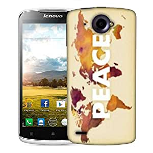 Snoogg Peace Designer Protective Phone Back Case Cover For Lenovo S920